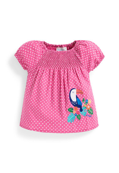 JoJo Maman Bebe Bluza cu imprimeu cu buline Fete