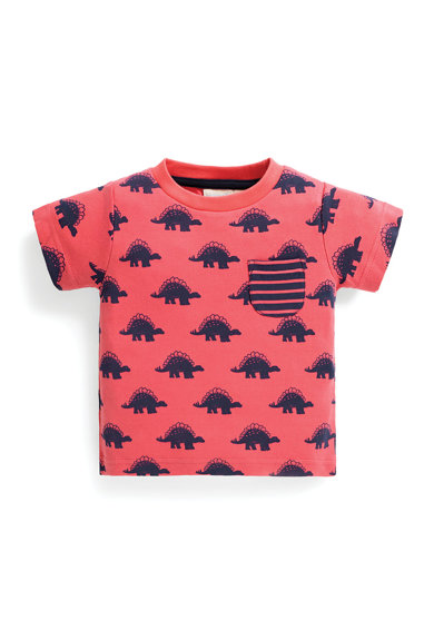 JoJo Maman Bebe Тениска с шарка и джоб Момчета