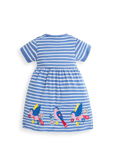 JoJo Maman Bebe Раирана разкроена рокля Момичета