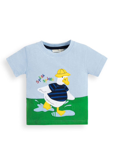 JoJo Maman Bebe Тениска с бродерия Момчета