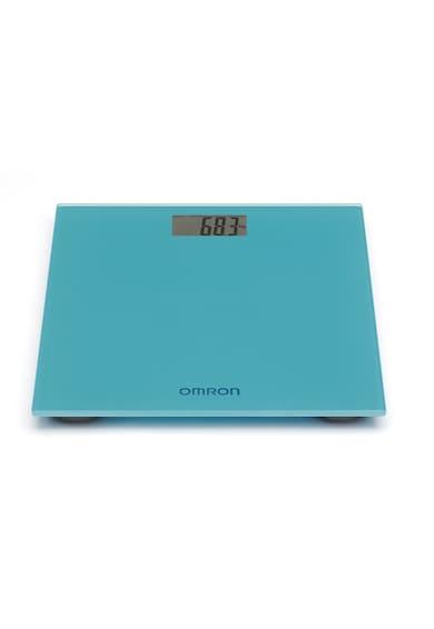 Omron Cantar super slim  HN-289-E, 150 kg, Sticla securizata, Display LCD, pentru adulti si bebelusi, Albastru Femei