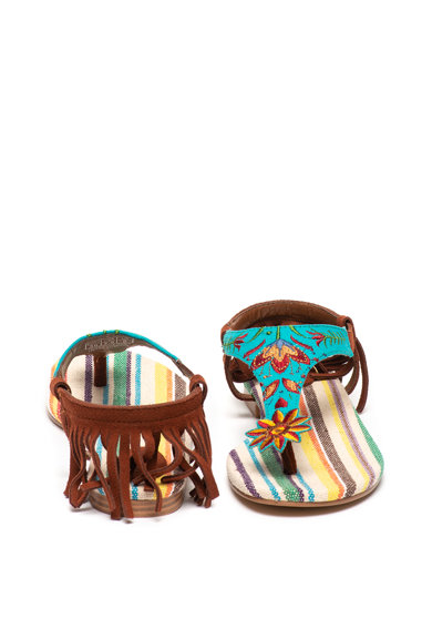 DESIGUAL Sandale cu bareta deparatoare si canafi Lupita Femei