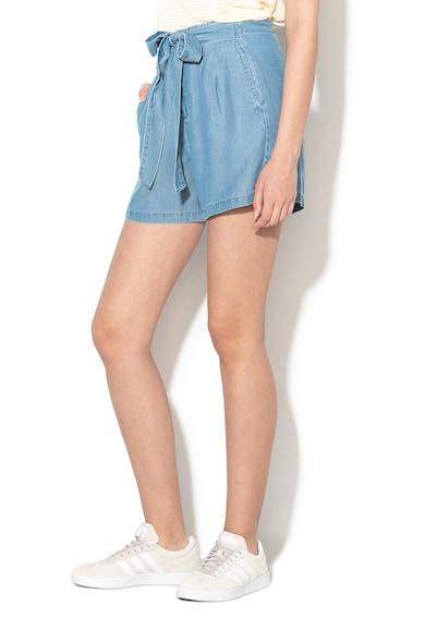 Vero Moda Pantaloni scurti din lyocell cu croiala lejera si funda in talie Mia Femei