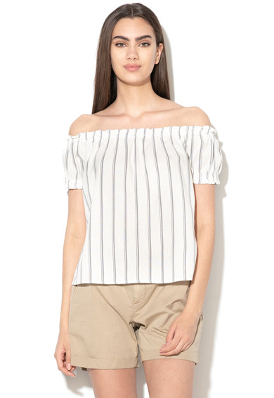 Vero Moda Bluza din amestec de in, cu decolteu pe umeri Anna Femei