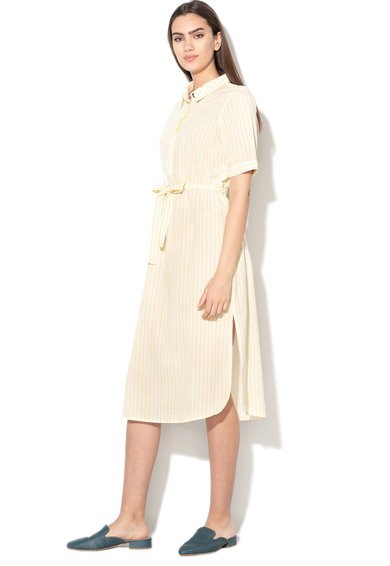 Vero Moda Rochie tip camasa cu model in dungi si cordon Femei