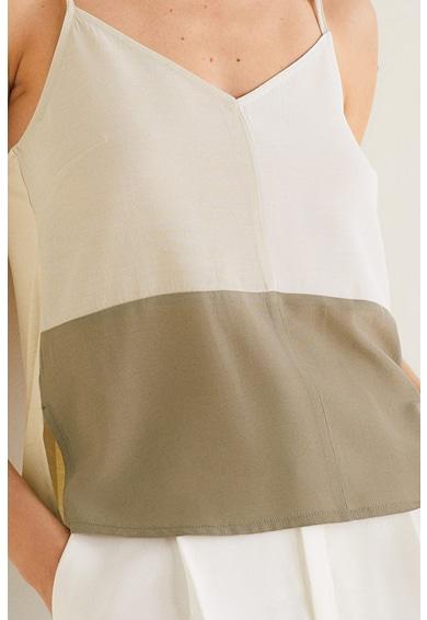 Mango Bluza fara manci cu bretele subtiri Tritop Femei