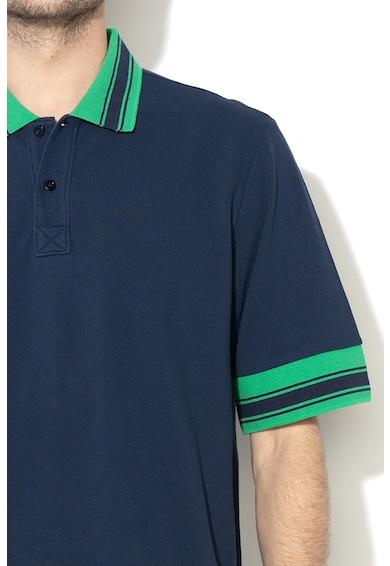 United Colors of Benetton Tricou polo de pique, cu detalii contrastante Barbati