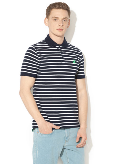 United Colors of Benetton Tricou polo cu model in dungi Barbati