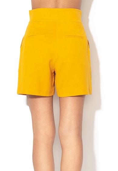 Sisley Pantaloni scurti din amestec de in cu talie inalta Femei