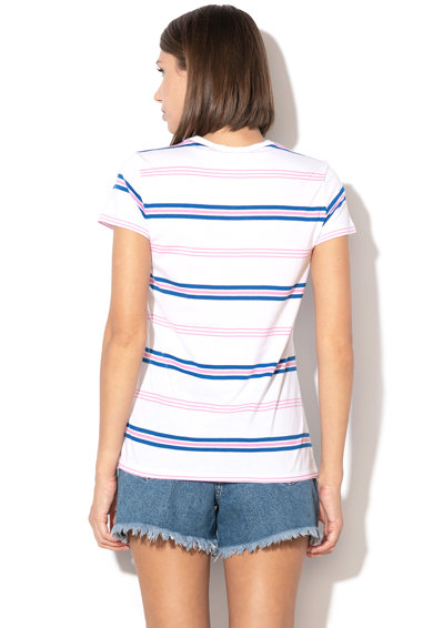 United Colors of Benetton Tricou cu dungi, din amestec de modal Femei
