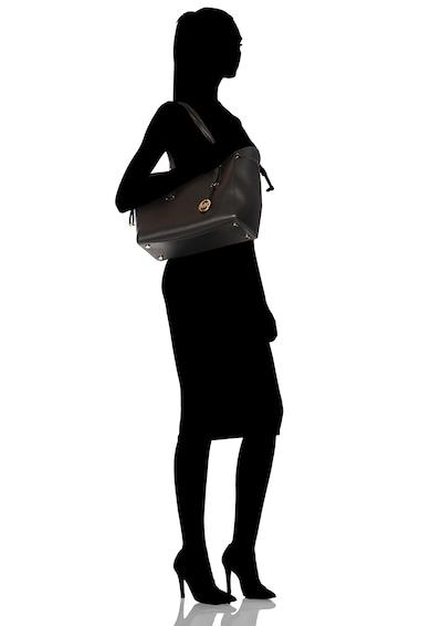 Michael Kors Voyager tote fazonú bőrtáska logós kiegészítővel női