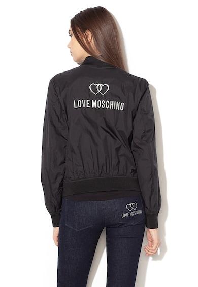 Love Moschino Олекотено яке бомбър с лого Жени