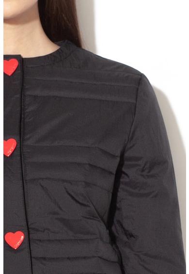 Love Moschino Pihével enyhén bélelt dzseki szív alakú patentokkal női