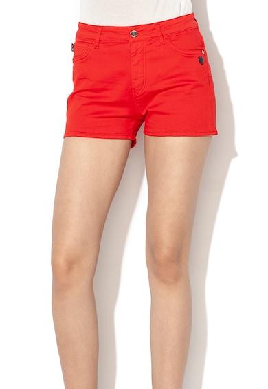 Love Moschino Къс панталон от деним с бродирано лого Жени