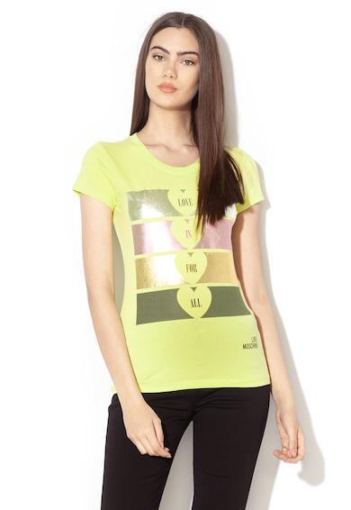 Love Moschino Grafikai mintás póló női