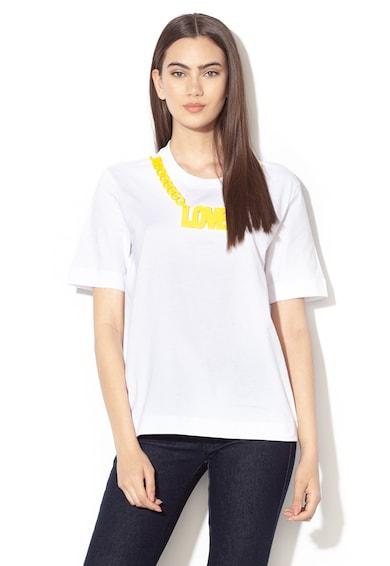 Love Moschino Tricou lejer cu aplicatie cu colier Femei