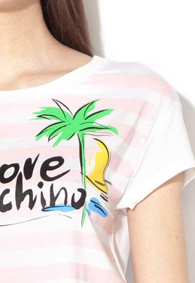Love Moschino Mintás modáltartalmú póló női