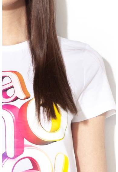 Love Moschino Тениска с текстова шарка Жени