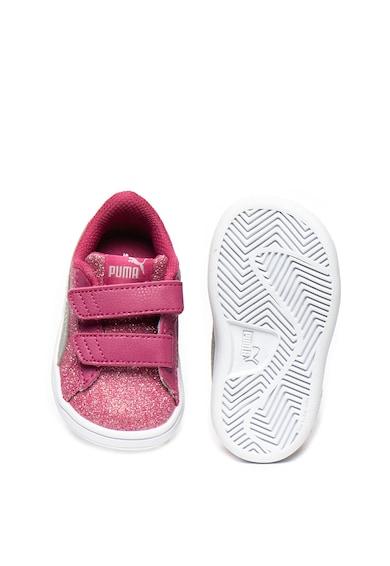 Puma Pantofi sport cu insertii stralucitoare Smash v2Gliz Glam 367380 Fete