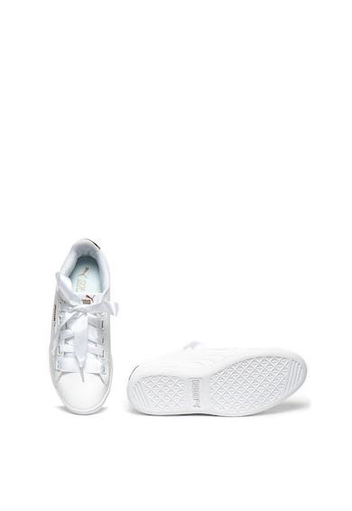 Puma Pantofi sport de piele ecologica, cu sireturi cu panglica Vikky Femei