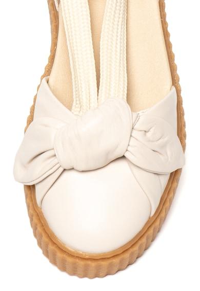 Puma Fenty x Puma, Balerini d'Orsay flatform de piele, cu sireturi infasurabile Bow Creeper Femei