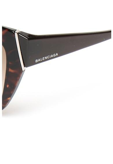 Balenciaga Ochelari de soare cat-eye patrati cu accente contrastante Femei