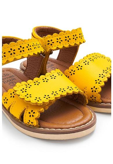 JoJo Maman Bebe Sandale de piele cu perforatii Fete
