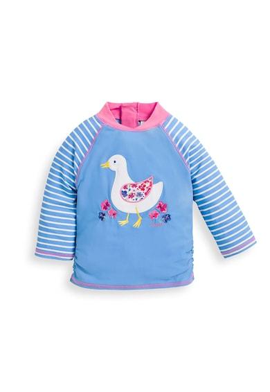 JoJo Maman Bebe Bluza de baie cu imprimeu si protectie UV UPF 50+ Fete
