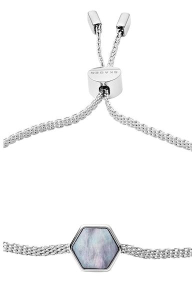 Skagen Bratara cu talisman hexagonal Femei
