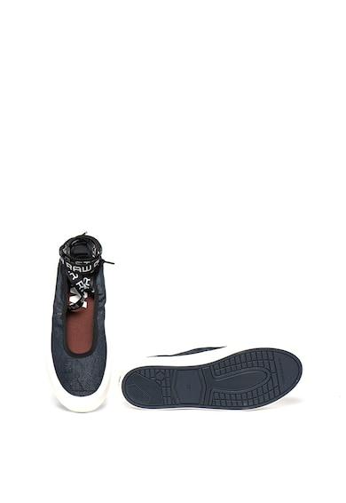 G-Star Raw Pantofi slip-on cu imprimeu logo si prindere cu snururi Street Ballerina Femei