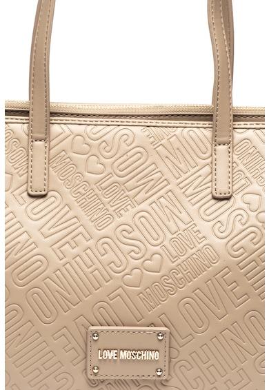 Love Moschino Geanta tote de piele ecologica, cu imprimeu logo Femei