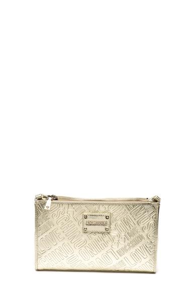 Love Moschino Fémes hatású műbőr keresztpántos táska női