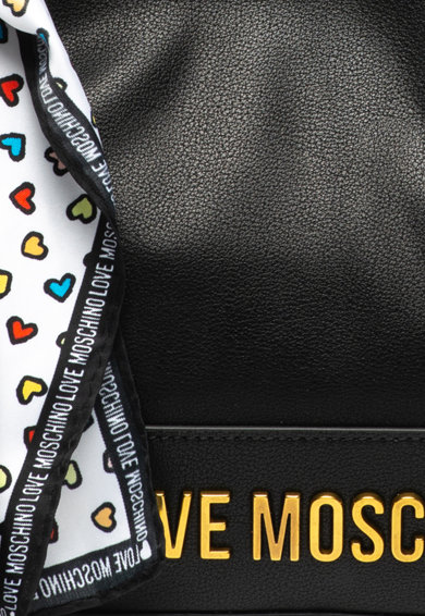 Love Moschino Műbőr kézitáska logórátéttel női