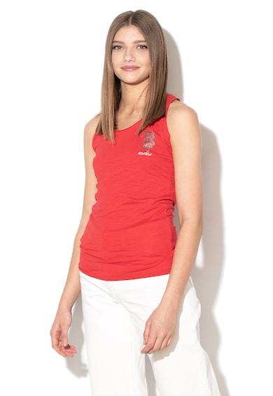 U.S. Polo Assn. Top cu spate decupat si logo Femei