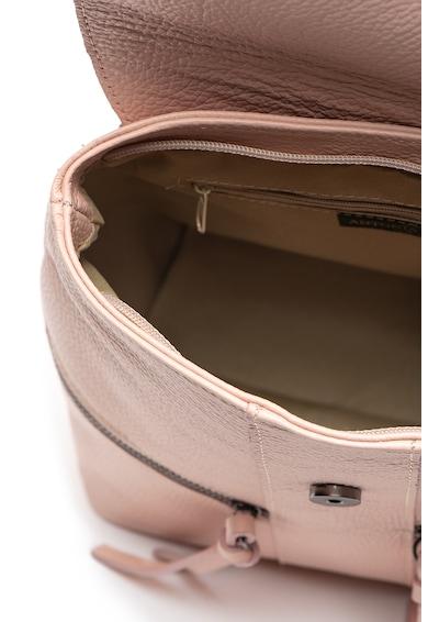Antonia Moretti Bőr hátizsák cipzáros külső zsebekkel női