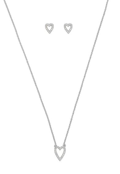 Adore by Swarovski® Group Szív alakú fülbevaló és nyaklánc szett női