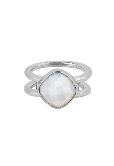 Adore Ródiumbevonatú gyűrű Swarovski® kristályokkal női