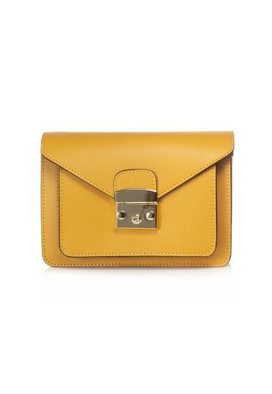 968d690cd139 Abra bőr keresztpántos táska - DiAmanti (D1280-GIALLO-SCURO)