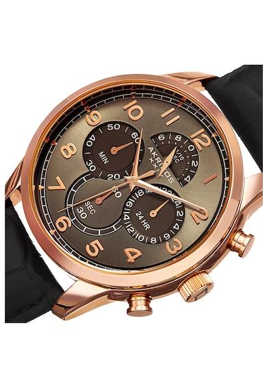 AKRIBOS XXIV Ceas cronograf cu o curea de piele 47 Barbati
