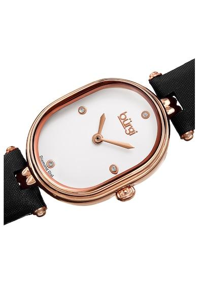 BURGI Часовник с кожена каишка и 4 диаманта Жени