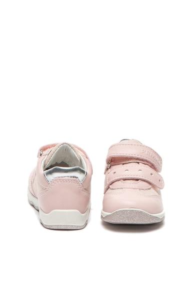 Primigi Кожени спортни обувки с бляскави частици Момичета