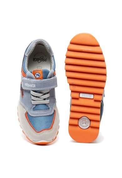 Primigi Pantofi sport de piele nabuc si material textil Baieti