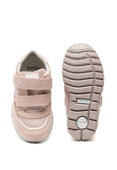 Primigi Спортни обувки от велур и текстил с велкро Момичета