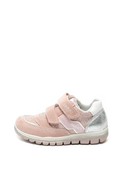 Primigi Pantofi sport de piele intoarsa si material textil cu velcro Fete