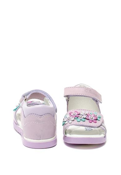 Primigi Кожени сандали с флорални детайли Момичета