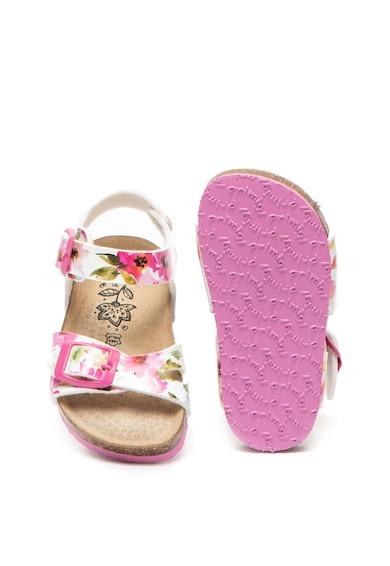 Primigi Sandale de piele ecologica cu model floral Fete