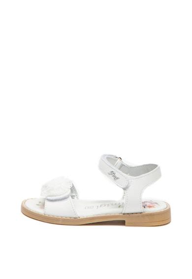 Primigi Sandale de piele cu aplicatie florala de dantela Fete