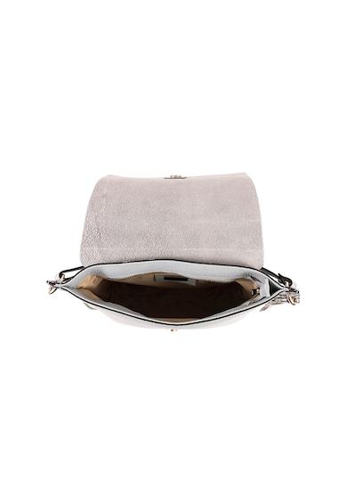 Anna Morellini Geanta de piele cu bareta pentru umar si insertii cu model de piele de reptila Felicia Femei