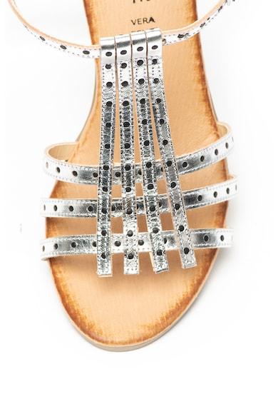 Zee Lane Sandale de piele cu aspect metalizat Femei