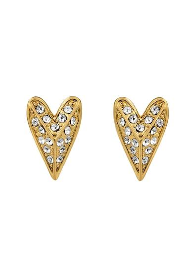 Karl Lagerfeld Swarovski kristályokkal díszített szív alakú fülbevaló női